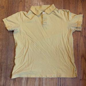 Women's Arizona Jean Company Yellow Polo Shirt LG